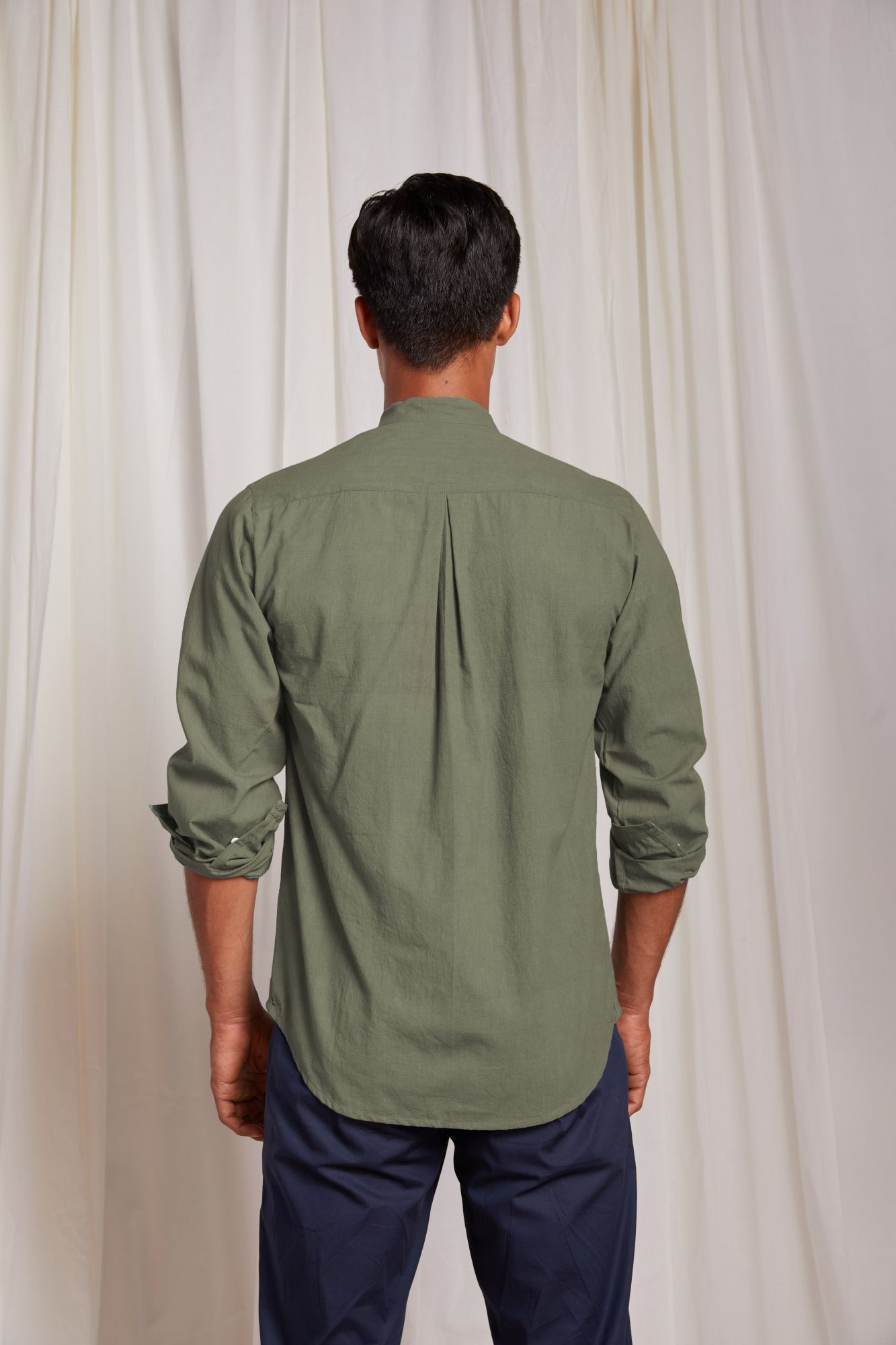Double Button Shirt - Moss