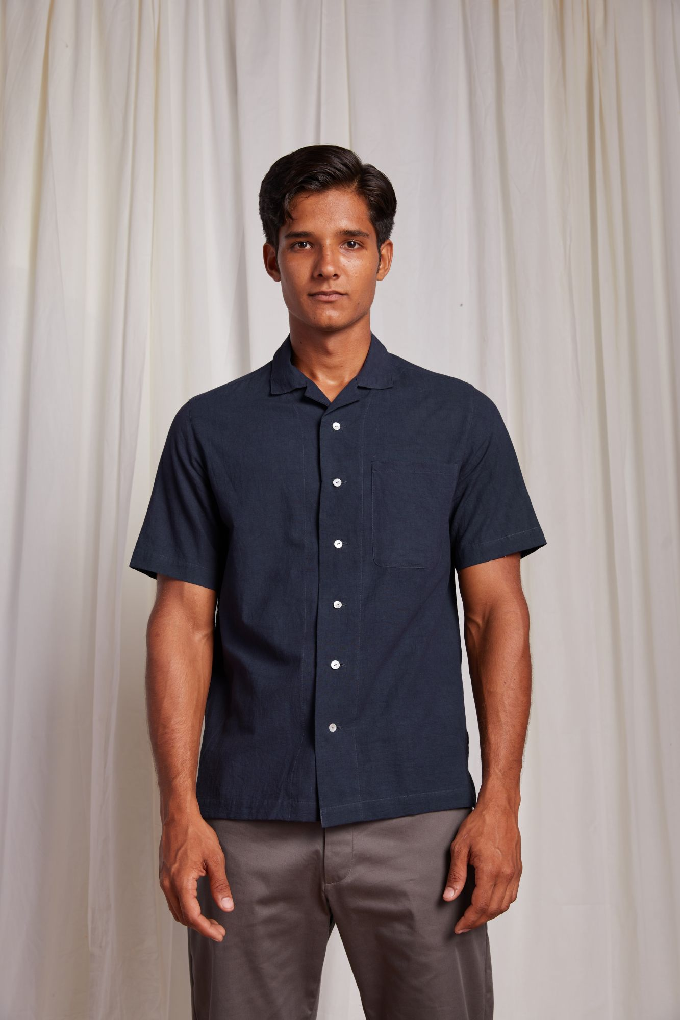 Camp Collar Shirt - Dark Indigo