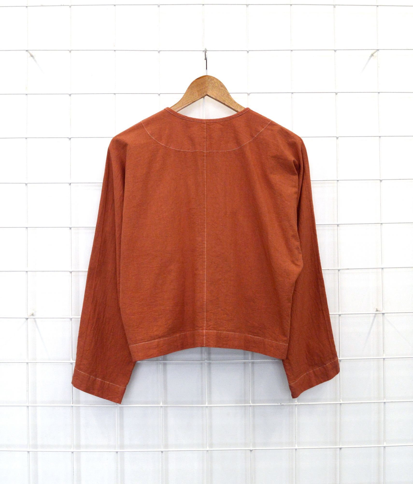Overdyed Coral Coat