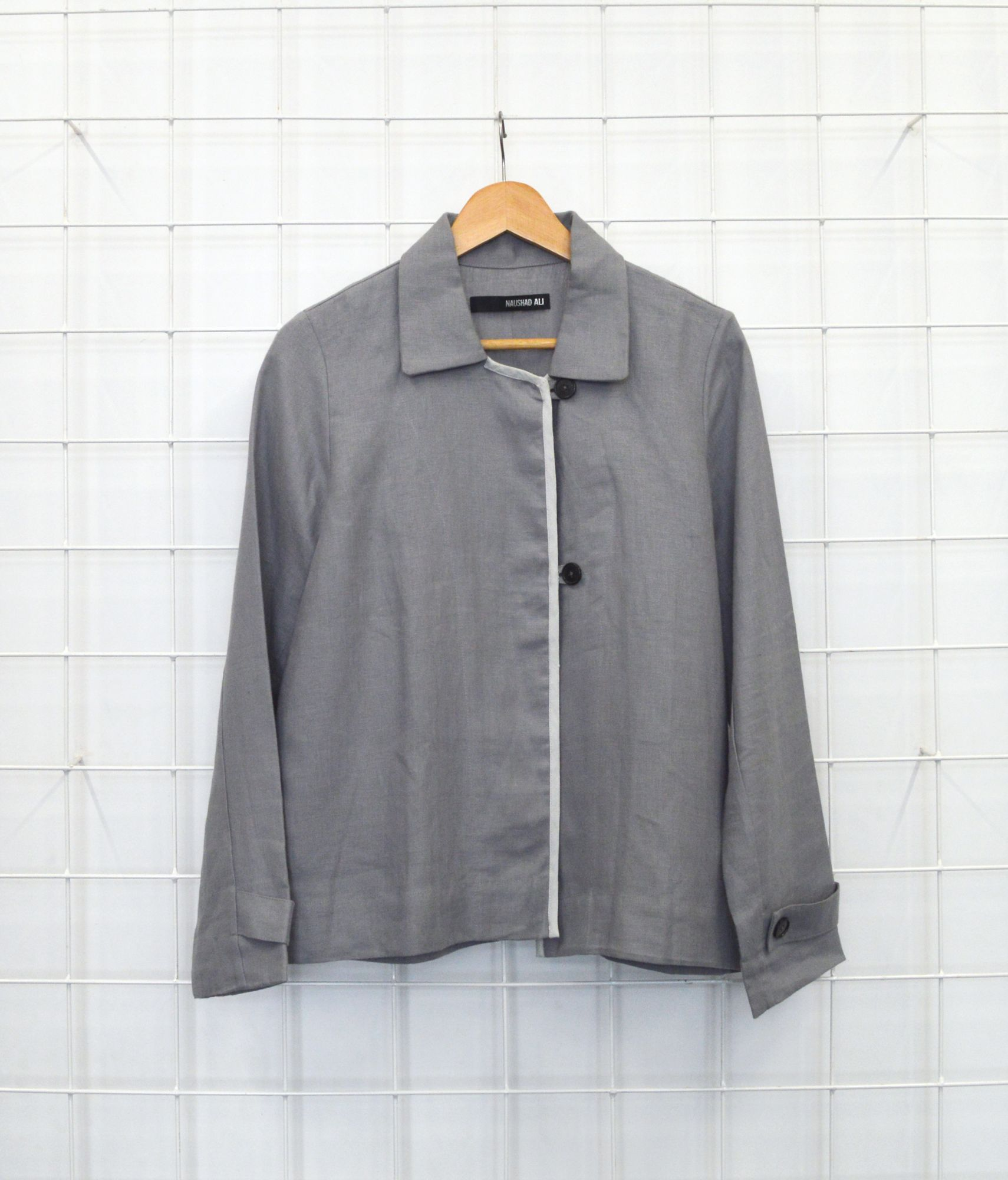 Linen Jacket- Anchor Grey