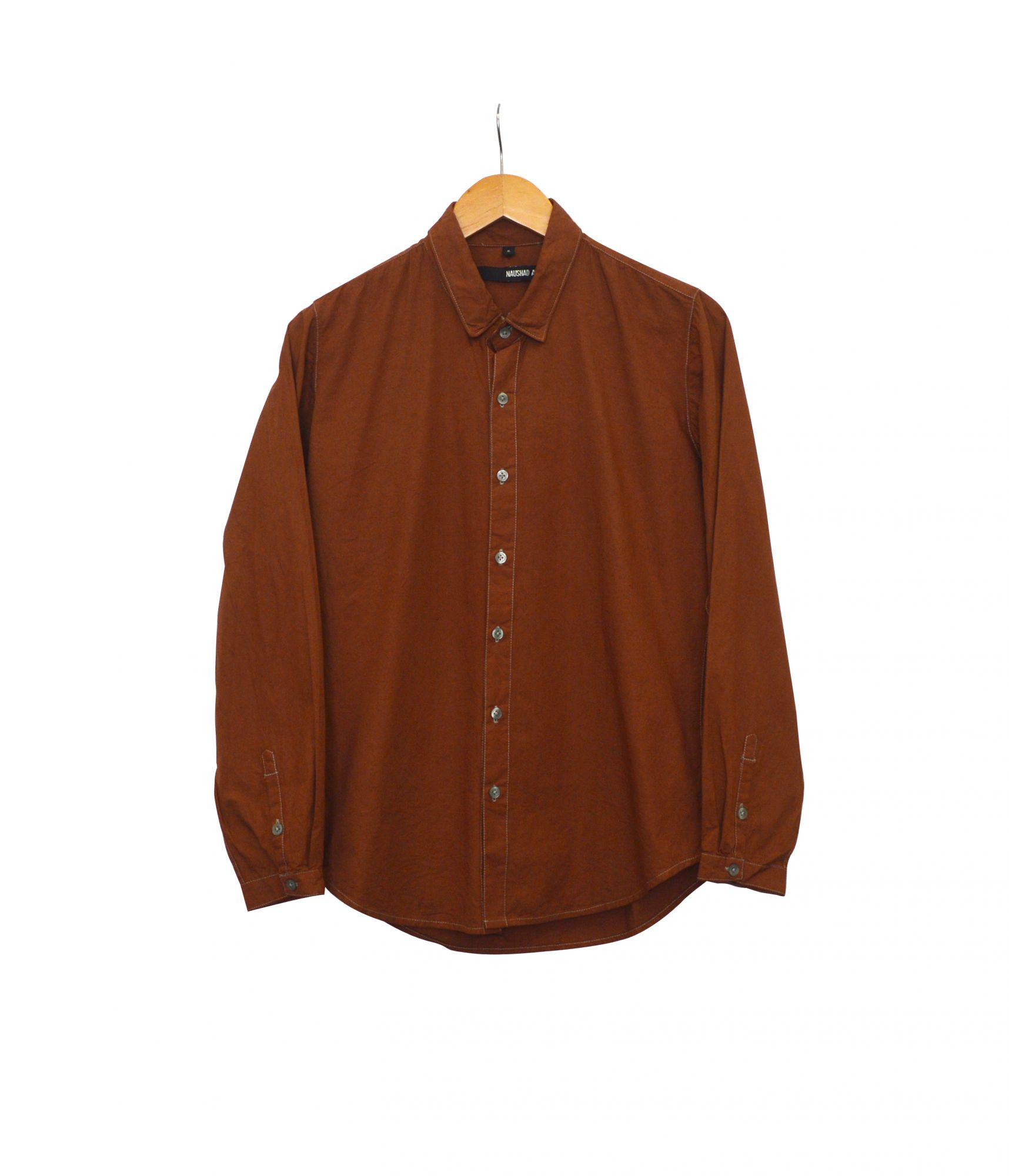 Overdyed Shirt - Red Earth