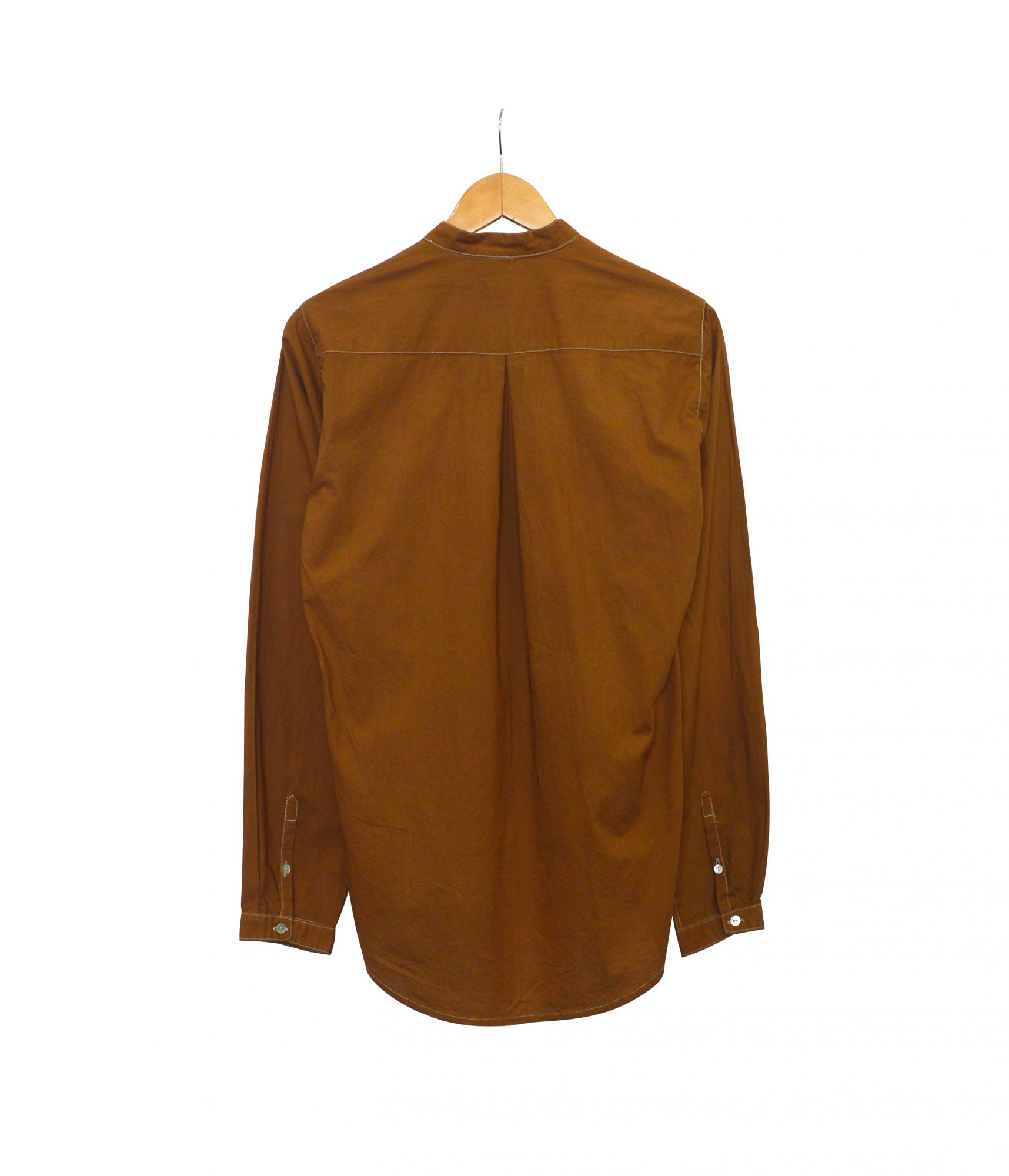 Overdyed Double Button Shirt - Brown