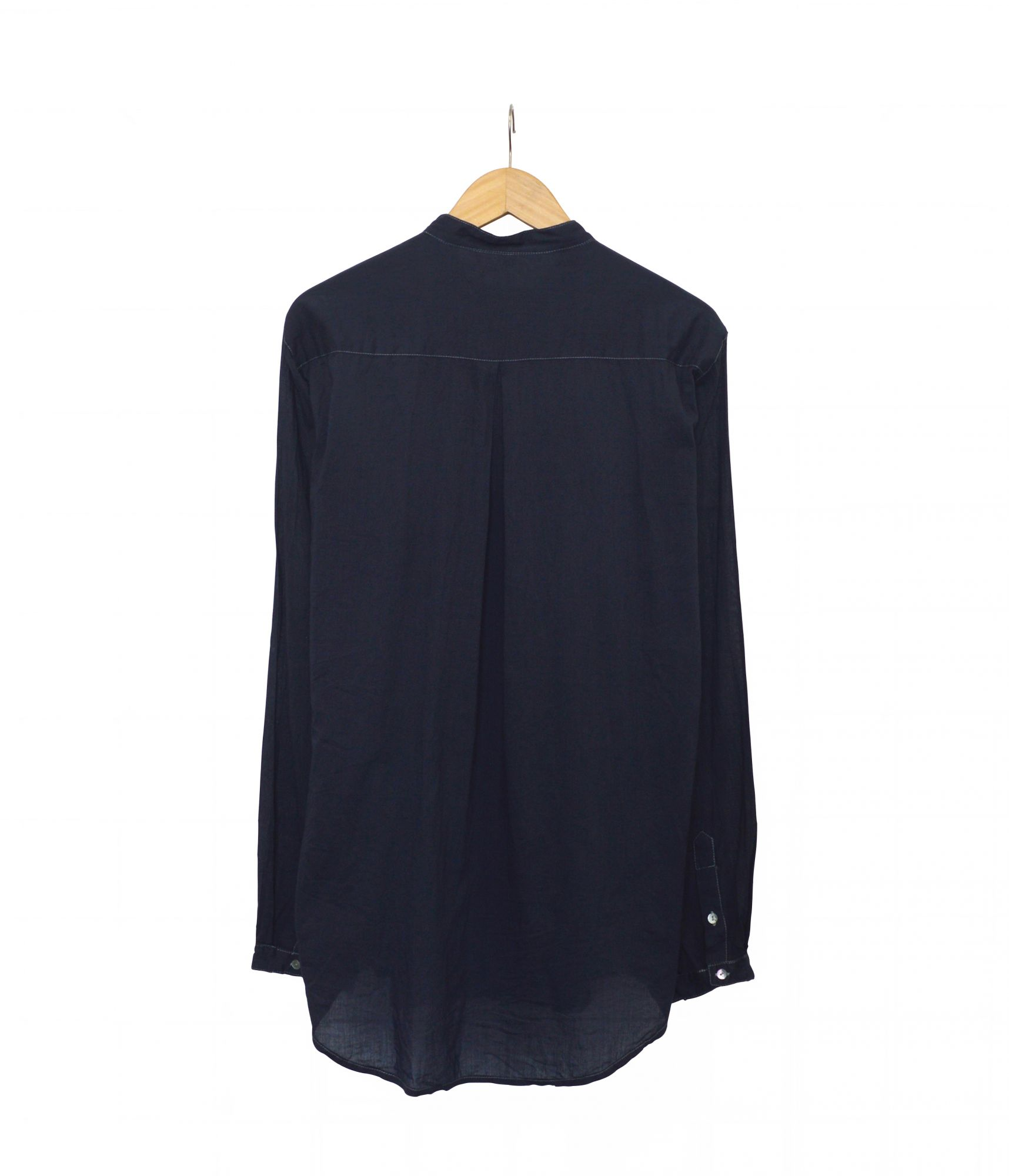 Overdyed Double Button Shirt - Indigo