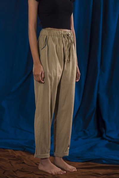 Solid / Easy Ankle-Length Pants