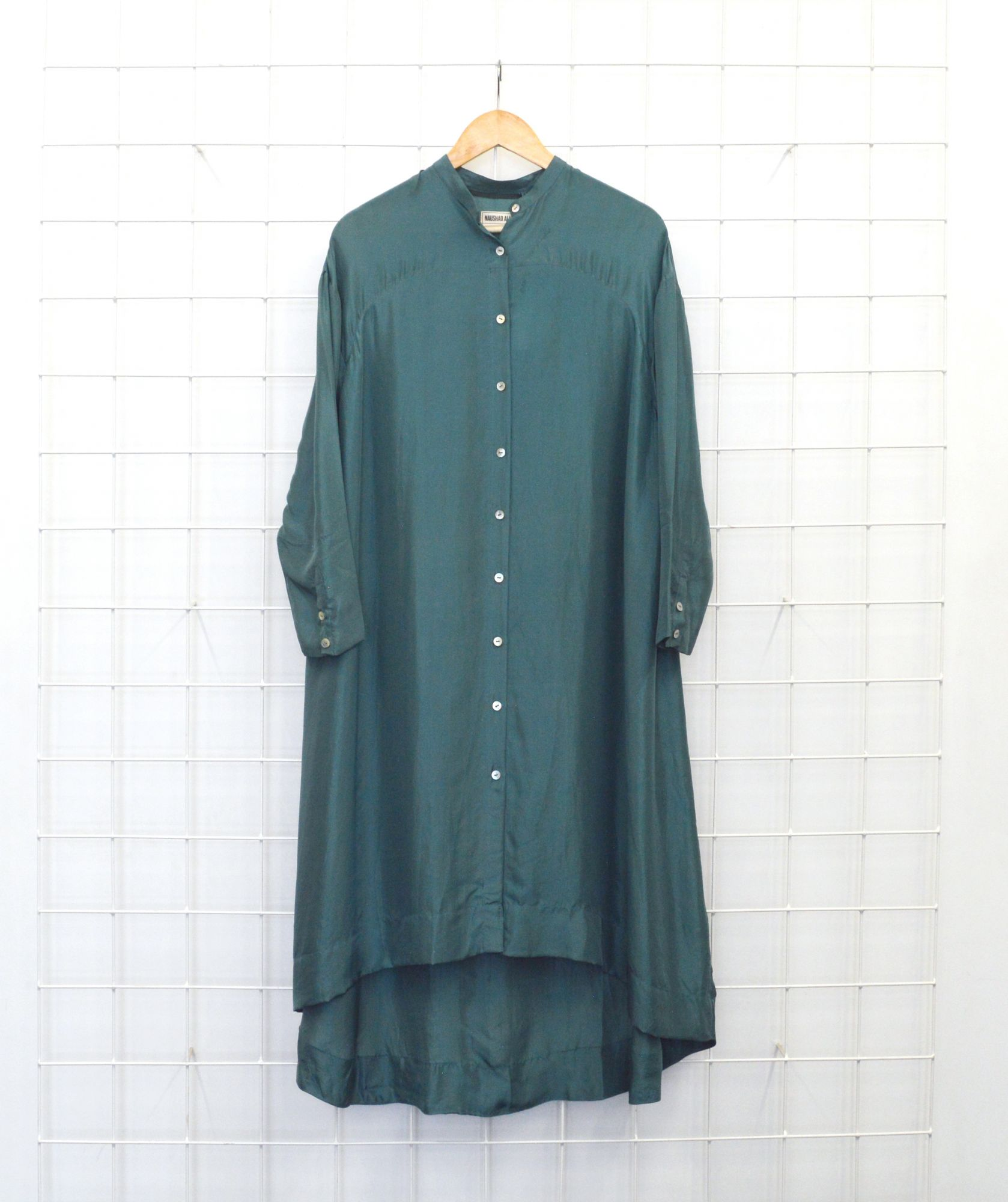 A-Line Shirt Dress - Teal