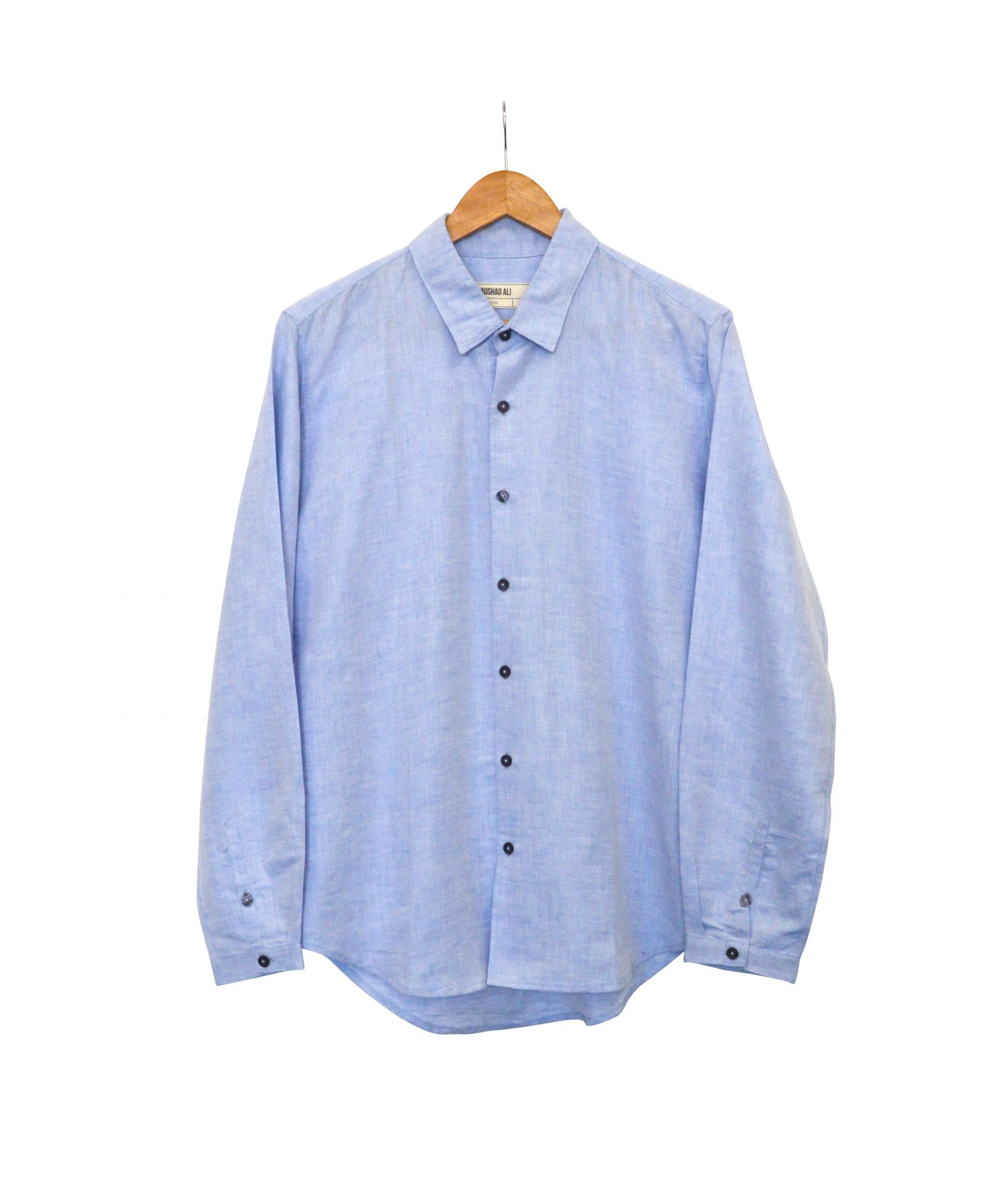 Good fella Shirt - Linen - Robin blue