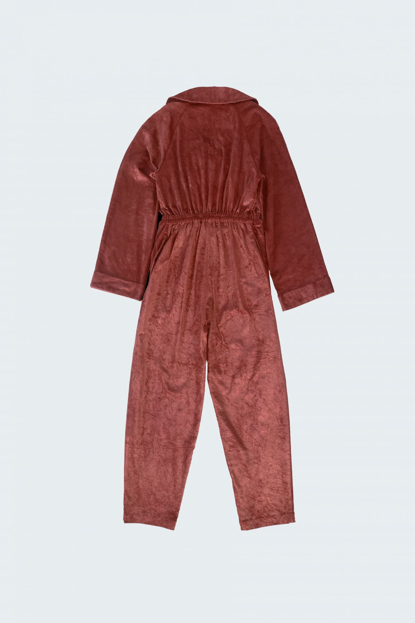 Double-Breasted Jumpsuit - Velveteen
