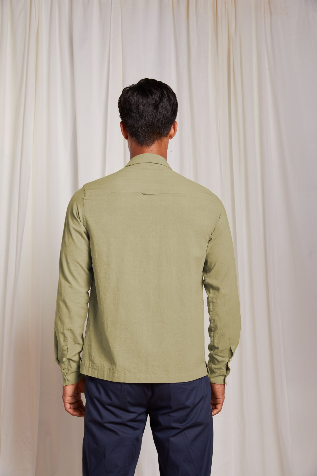 Camp Collar Shirt - Light Khaki