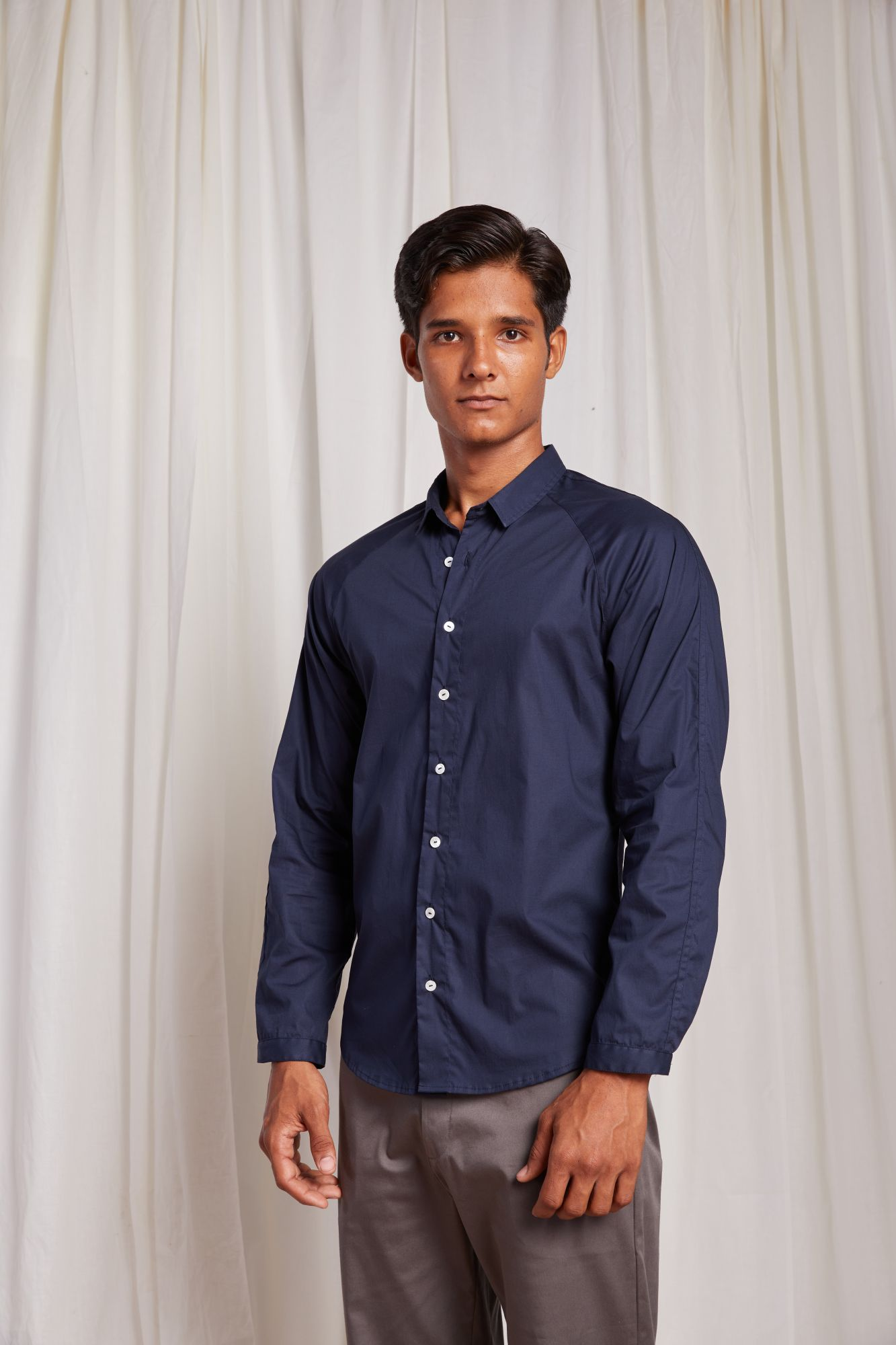 Raglan Sleeve Shirt - Navy