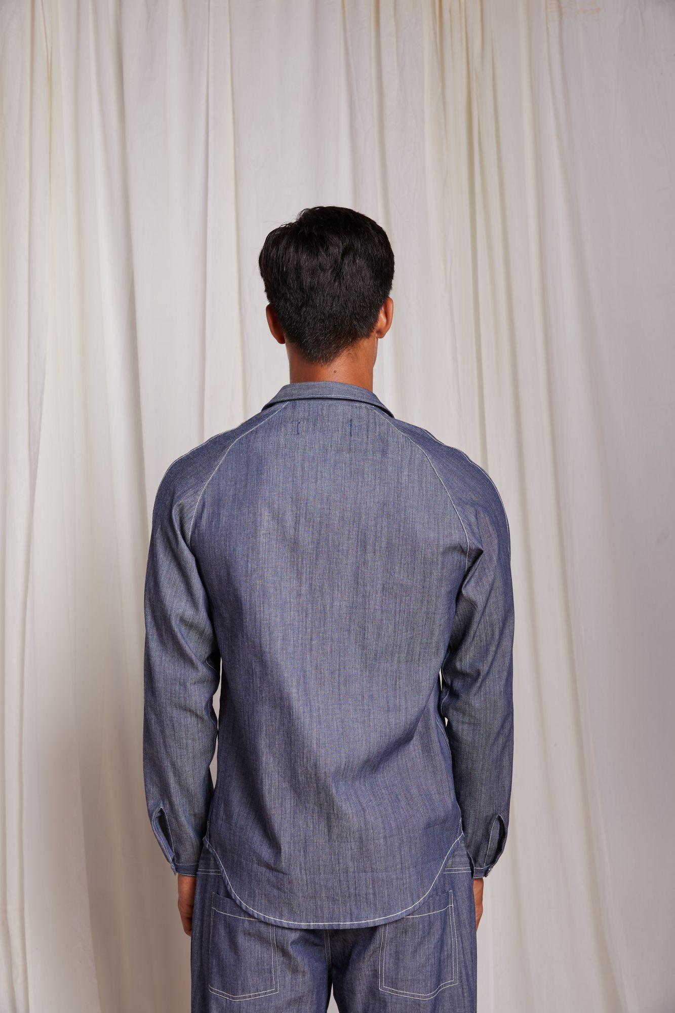 Raglan Sleeve Shirt - Denim