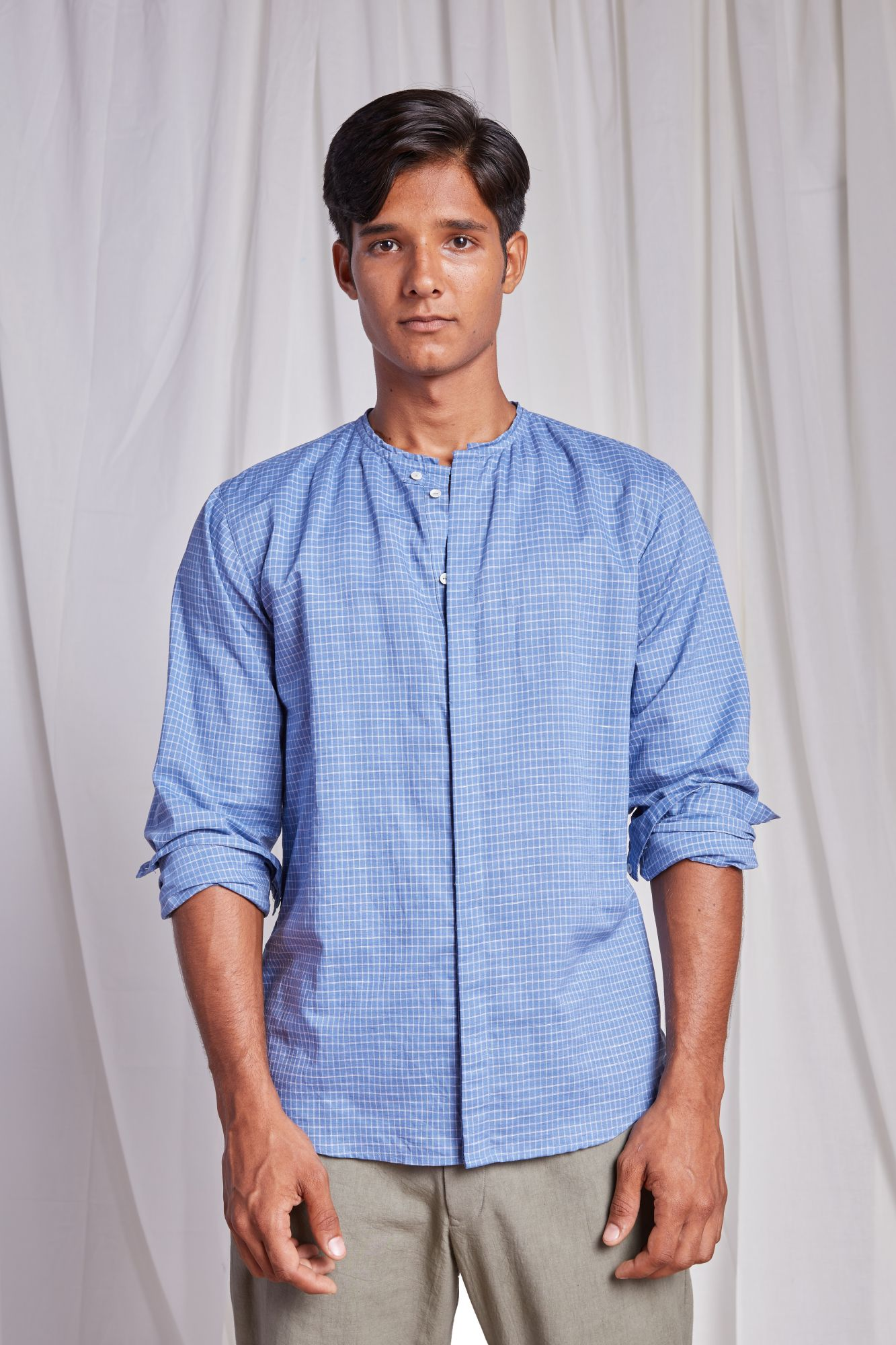 Tao Shirt - Blue Checks
