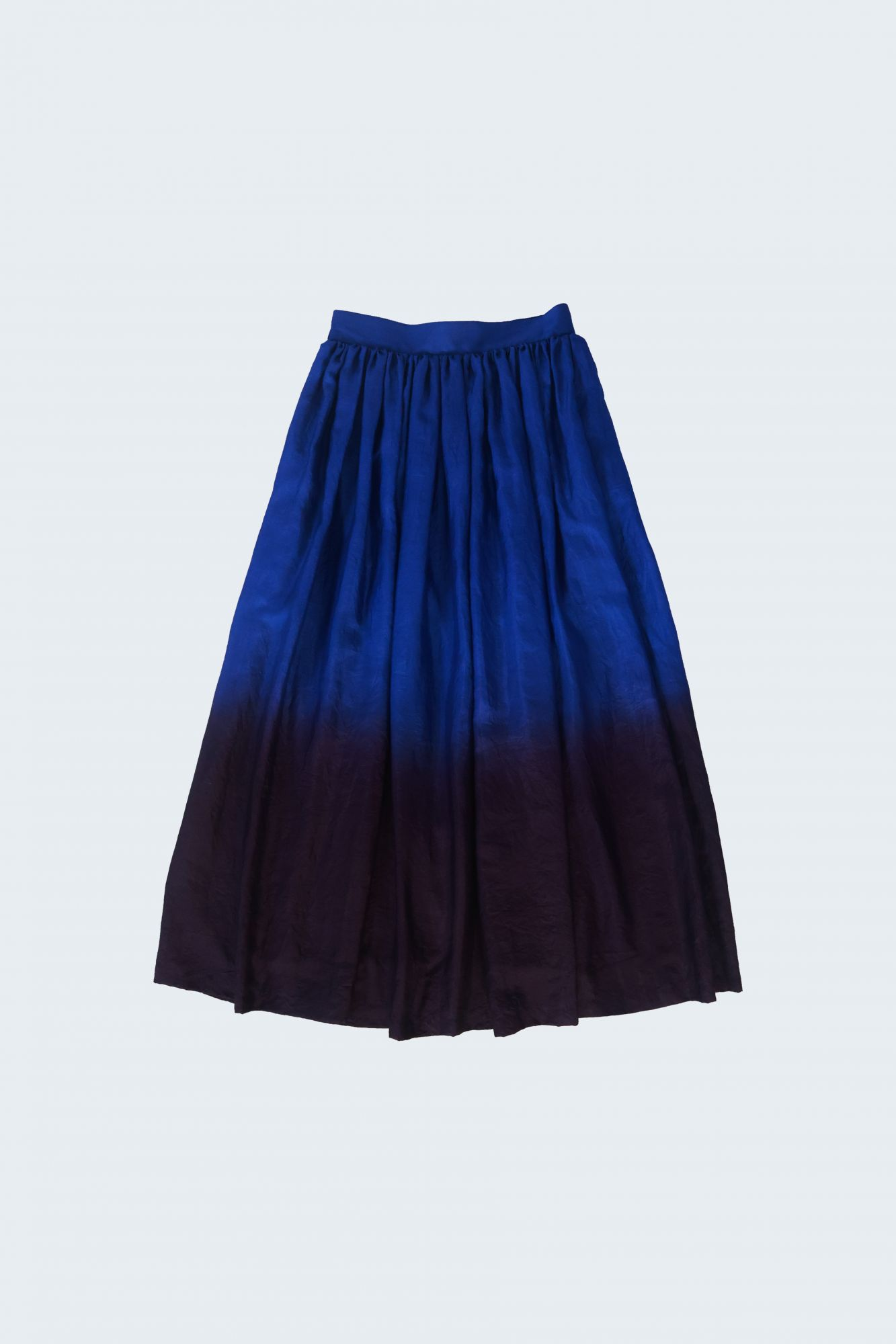 Gathered Skirt - Silk Ombre