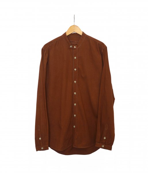 Overdyed Double Button Shirt - Red Earth