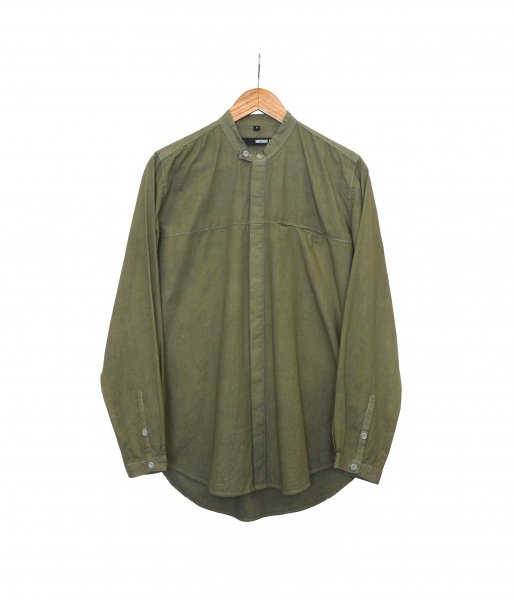 Overdyed Double Button Shirt - Smoked Green