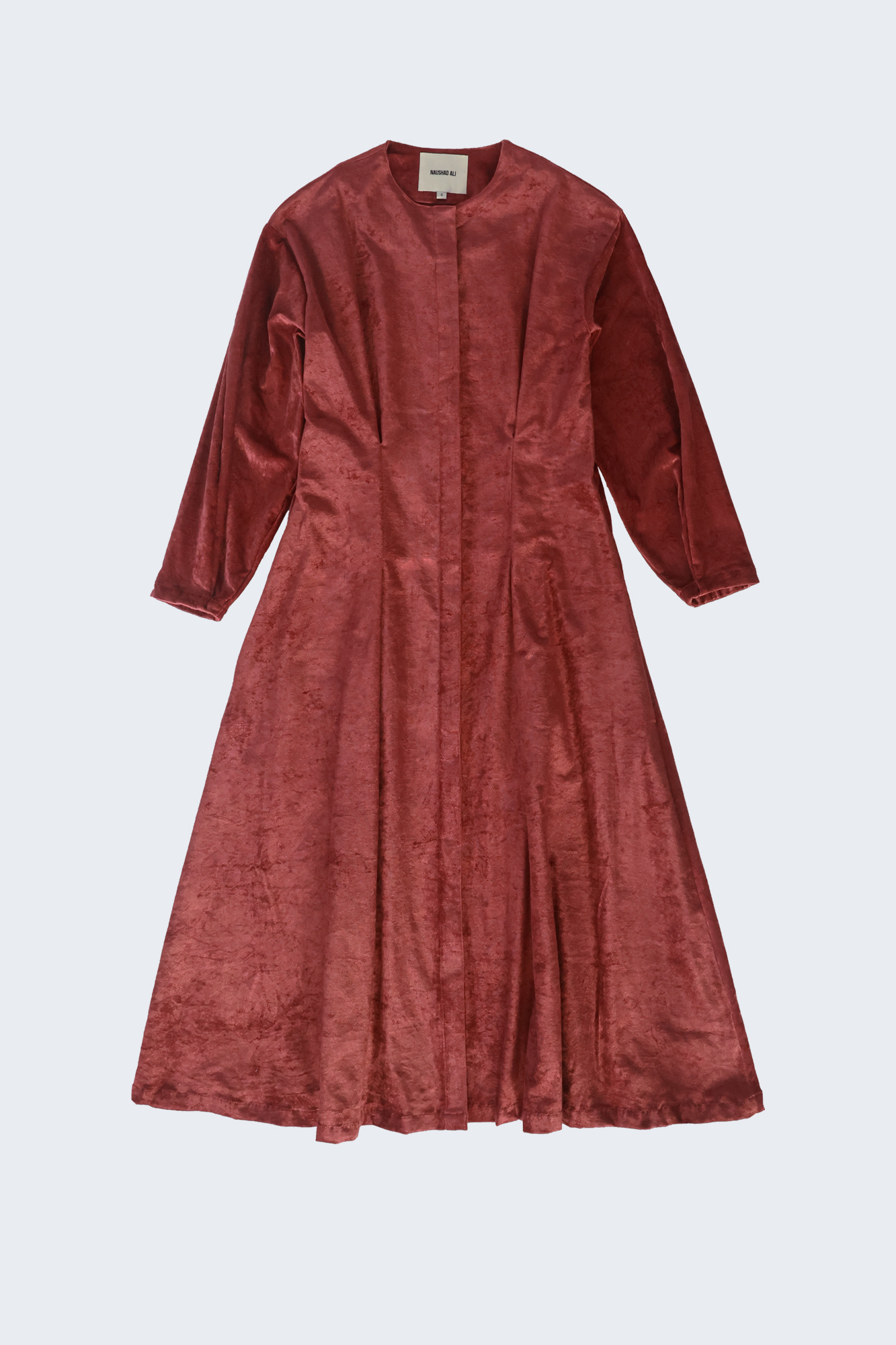 Pleat-Waist Dress - Velveteen