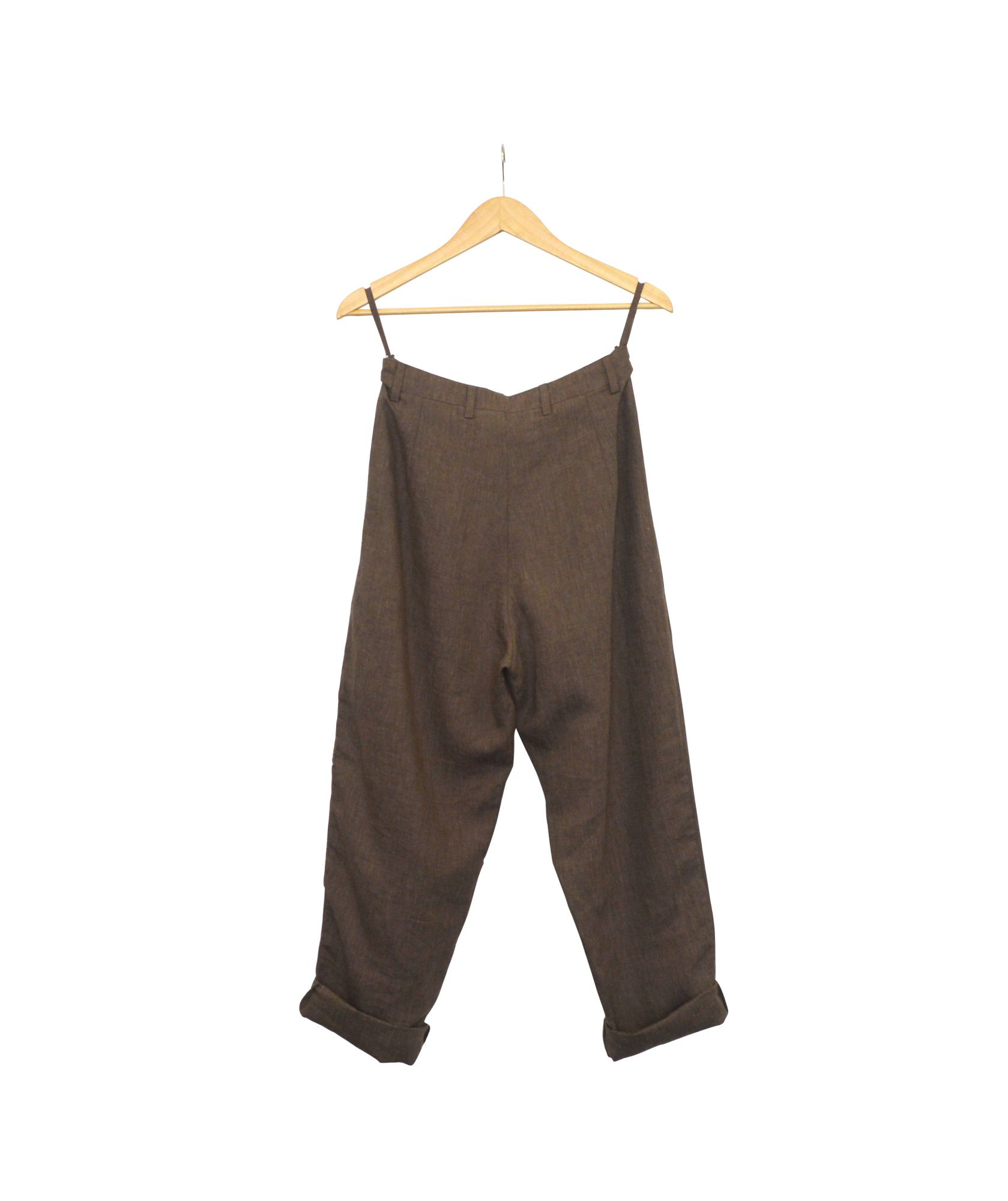 Pleated Trousers - Linen - Umber Brown